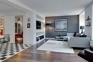 12 astuces deco pour un appartement de 74m2 moderne With decoration petit appartement moderne