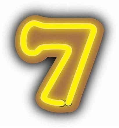 Number Seven Clip Clipart Clker Numbers Vector