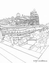 Coloring Hundertwasser Pages Colouring Template Sheets Darmstadt Waldspirale Spirale Forest Building Hellokids sketch template