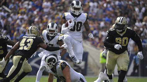los angeles rams win     orleans saints abc