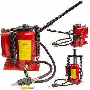 Air Hydraulic Bottle Jack 20 Ton Manual 40000lb Heavy Duty