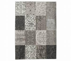 vintage patchwork black white 8101 louis de poortere With tapis vintage patchwork