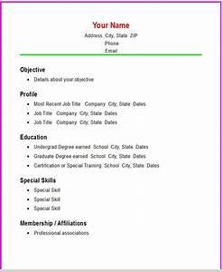 Simple Resume Samples Template Resume Builder