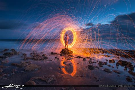 steel wool photography  beach