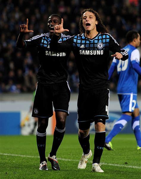 David Luiz In Krc Genk V Chelsea Fc  Uefa Champions