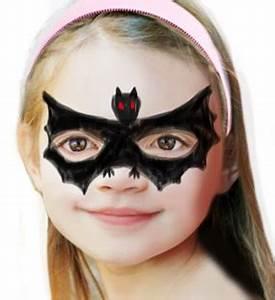 Maquillage D Halloween Pour Fille : maquillage de chauve souris maquillage sur t te modeler ~ Melissatoandfro.com Idées de Décoration