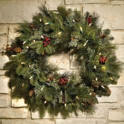 wreath 24 quot cordless pre lit decorated indoor outdoor home ebay