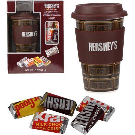 hershey christmas gifts hershey travel mug with hershey miniatures gift set 2 pc walmart