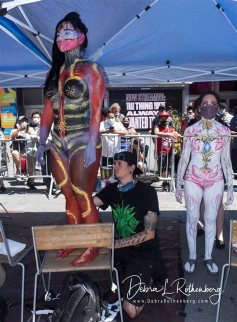 annual nyc body painting day  times square ny