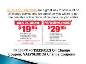 Pictures of Oil Change Coupons