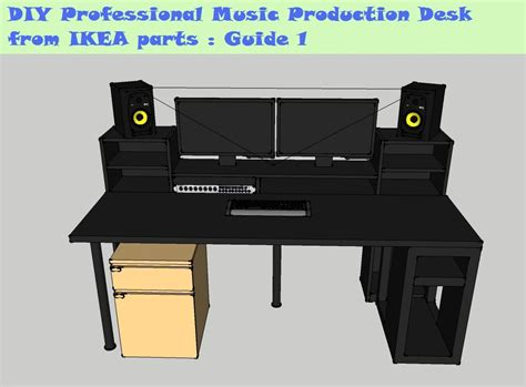 bureau mike ikea guide diy production desk from ikea parts build 1