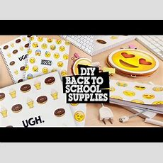 Diy  Emoji Back To School Supplies  Notebooks, Pencil Holder & Bookmark  Youtube Great