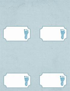 baby footprint template clipartsco With baby shower place cards template