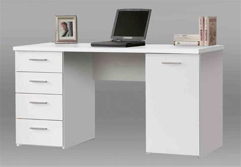 pulton large white writing desk  drawers
