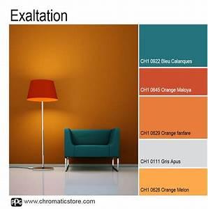 Bleu Et Orange : d co salon compl mentaires le orange et le bleu se marient l infini si l on ne cra ~ Nature-et-papiers.com Idées de Décoration