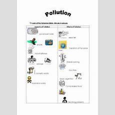 Aspects Of Pollution  Esl Worksheet By Sallouma