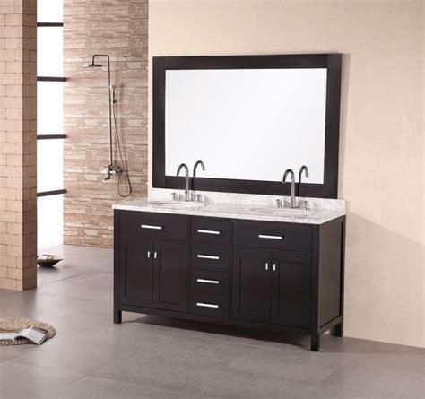 modern double sink bathroom vanity   doors