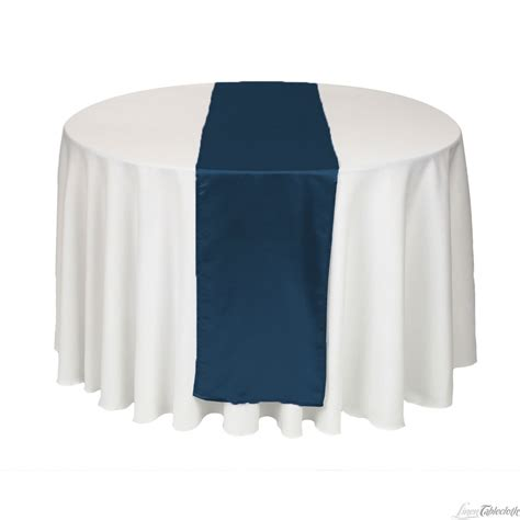 wedding table cloth runners buy 14 x 108 inch navy blue satin table runner for your