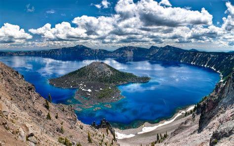 background beautiful scenery turquoise blue lake blue sky