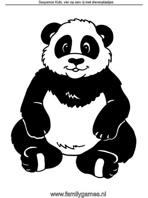 Kleurplaat Pandabeer by Kleurplaat Panda Sequence Kleurplaten Nl