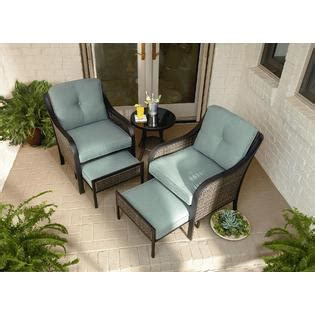 patio chair with pull out ottoman garden oasis nichols 5pc mixed media seating with pull out