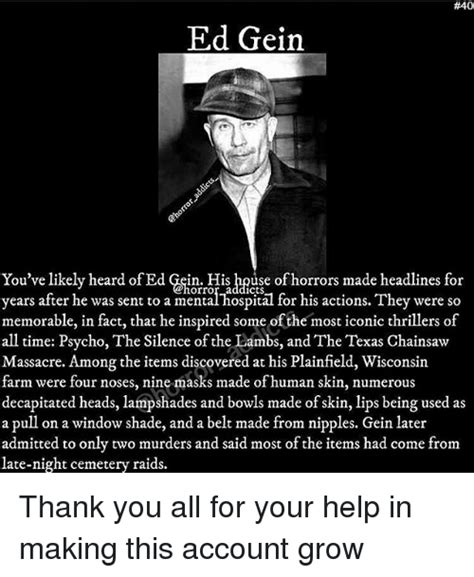 Ed Gein Memes - 40 ed gein you ve likely heard of ed gein his house of horrors made headlines for you ve likely