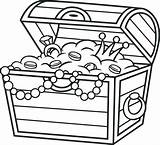 Treasure Coloring Pages Chest Pirate Getdrawings sketch template