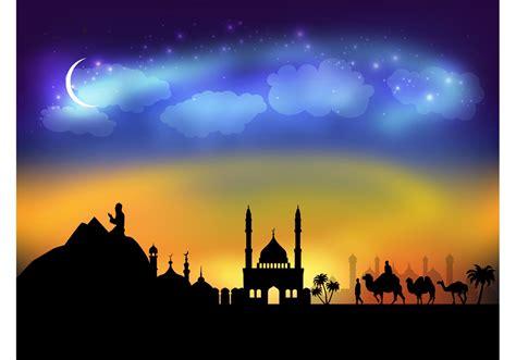 arabic night vector   vector art stock