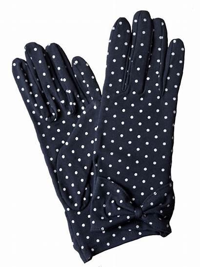 Dot Polka Gloves Cotton Dents Colours Wear