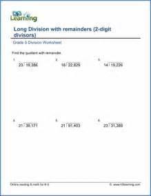 5 Grade Math Division Worksheets