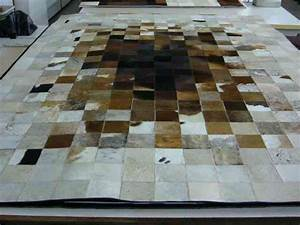 KUHFELL Teppich Grau Patchwork Cowhide Rug Grey Tapis