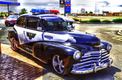 Route 66 Police Car Photograph By David Hoffmann