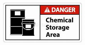 Danger Chemical Storage Area Stock Illustration