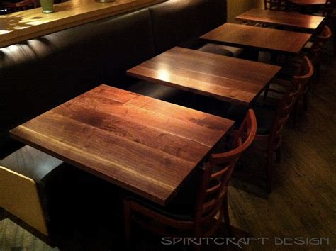 custom solid hardwood table tops dining  restaurant