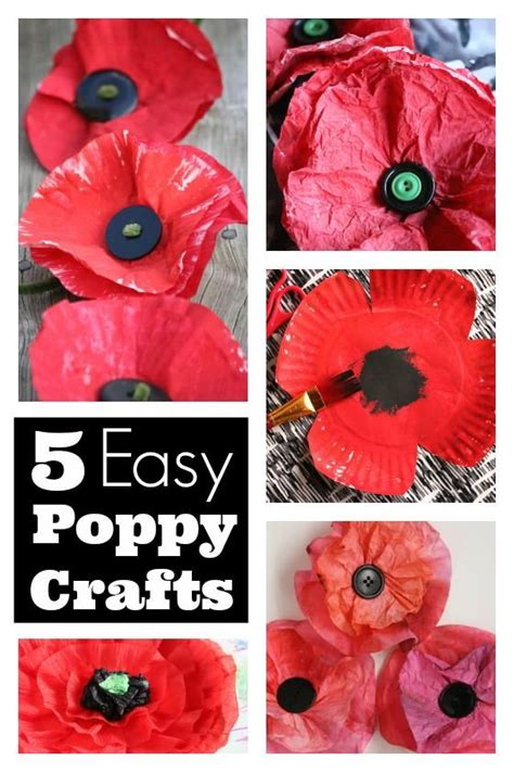 easy poppy crafts  kids    remembrance day