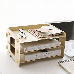 kusn supply 3 tier wood desktop letter tray organizer best With letter organizer tray