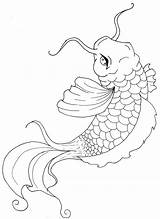 Koi Fish Coloring Pages Print sketch template
