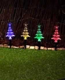 miniature led christmas tree w solar charger outdoor led solar mini trees 20pcs multicolour outbaxcing