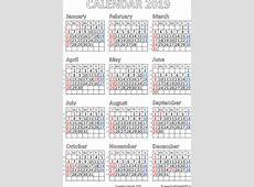 Printable Calendar 2019 for Canada Free Printable PDF