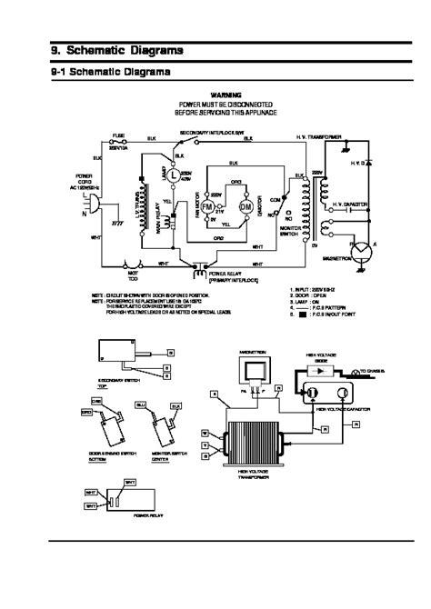 solucionado diagrama microondas samsung mw630wa yoreparo