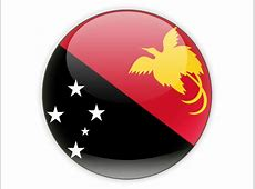 Round icon Illustration of flag of Papua New Guinea