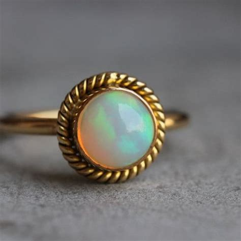 buy 14k gold opal ring engagement wedding ring october birthstone ring online at astudio1980 com