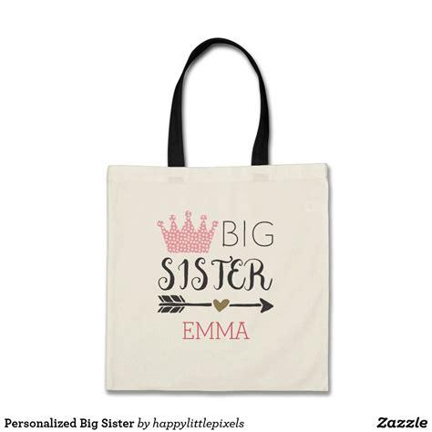 personalized big sister tote bag zazzlecom personalized big sister big sister tote bag