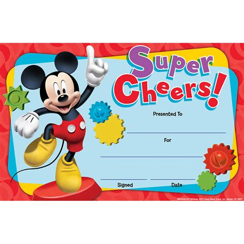 mickey mouse clubhouse super cheers classroom awards
