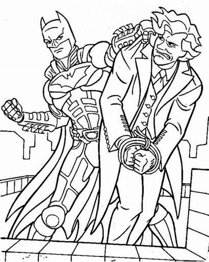 Batman Mewarnai Joker Gambar Coloring Dan Villains