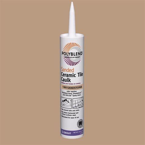 caulk floor custom building products polyblend 180 sandstone 10 5 oz sanded ceramic tile caulk pc18010s