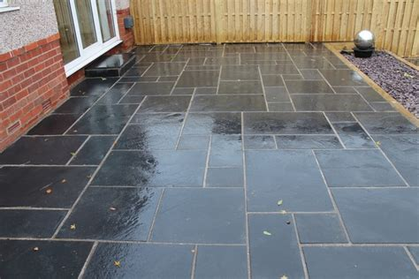 limestone patio pictures sheffield landscaper gallery patios decking ponds fencing sleepers