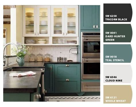 cabinet color sherwin williams teal stencil sw 0018 new