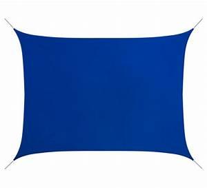 Voile D Ombrage Rectangulaire : voile d 39 ombrage rectangulaire 4 5x3 5 m bleu roi 160g m2 ~ Dailycaller-alerts.com Idées de Décoration