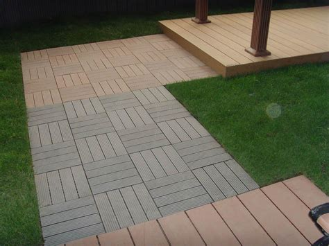 wood plastic composite decking tile edt meisen china